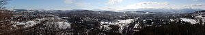 Panorama of Jelenia Góra, view from the lookou...