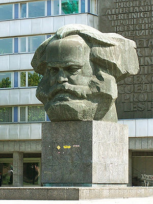 A Karl Marx monument in the German city Chemni...