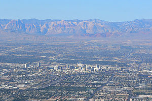 Downtown Las Vegas, Nevada and Red Rock Canyon...