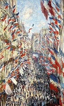Fête nationale, Claude Monet