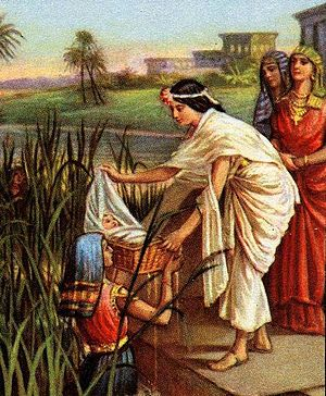 English: Finding of Moses, Bible illustration