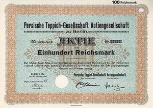 English: Share of Persische Teppichgesellschaf...