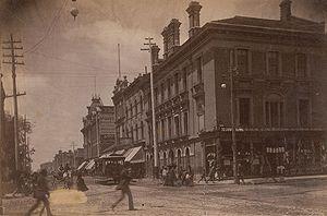 Queen Street West, looking west at Yonge Stree...
