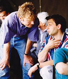 Gábor Fodor and Orbán at the Szárszó meeting of 1993. Fodor soon quit Fidesz.