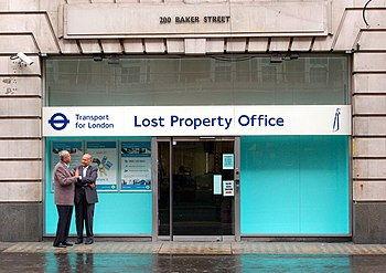 English: TfL lost property office on Baker Street
