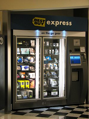 English: Best Buy Express vending machine, in ...