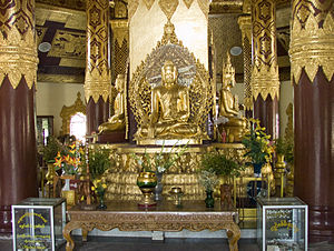 Buddha altar, Myanmar