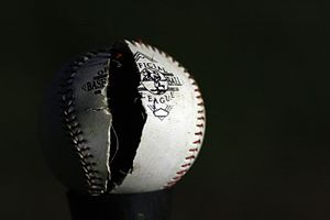 Cracked baseball