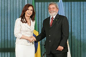 Cristina y Lula. Las subo para usar en Wikinew...
