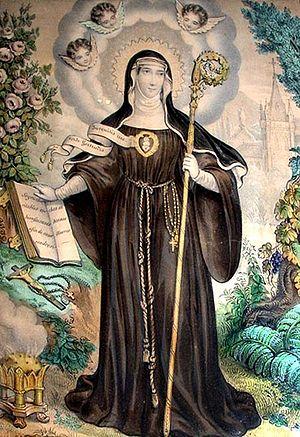 Santa Gertrudis de Helfta, llamada también la ...