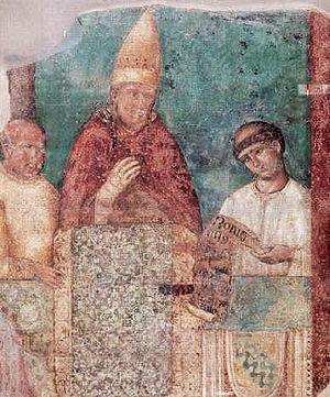 Pope Boniface VIII, who issued the decretal in...