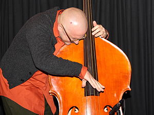 English: Jason Roebke on doublebass with Locks...
