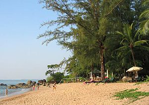 The beach at Khao Lak before the tsunami of 2004