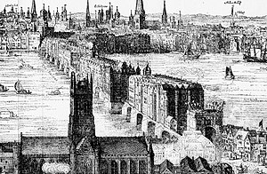Detail from Image:Panorama of London by Claes ...
