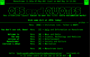 Monochrome BBS www.mono.org