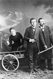 Lou Salomé, Paul Rée y Nietzsche, 1882.