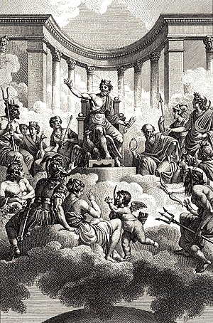 The gods of Olympus, after whom the Solar Syst...