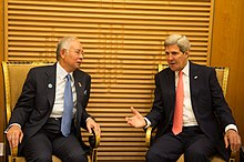 Najib meeting US Secretary of State John Kerry in Kuala Lumpur, 11 October 2013.