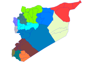 Map of the districts of Syria.