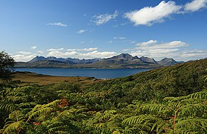 English: The Cuillin Hills from the Ord to Tok...