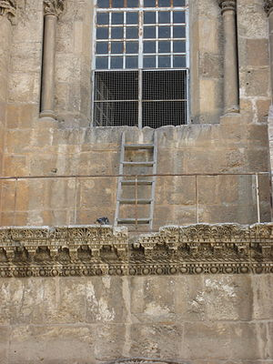 The Status Quo Ladder, Church of the Holy Sepu...
