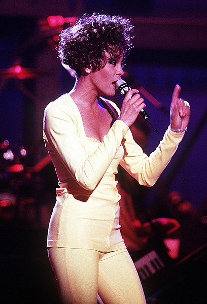 Whitney Houston during a performance in 1991.