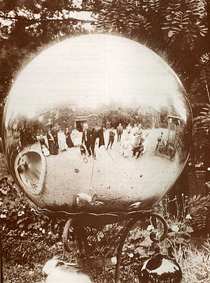 Untitled (Gazing Ball, Yard Globe - a garden d...