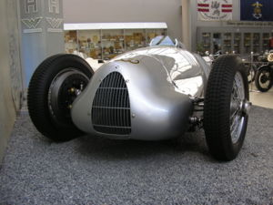 An 1938 Auto-Union V16 type C/D. This is a pur...