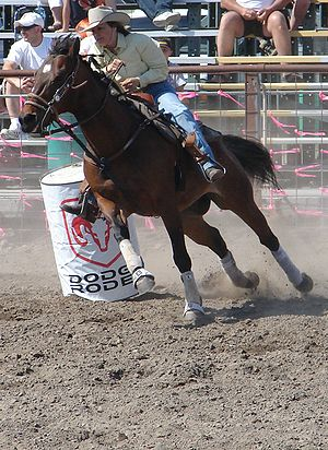 Barrel racing at Coulee City Last Stand Rodeo
