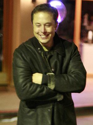 Elon Musk Original caption: Elon, a co-founder...
