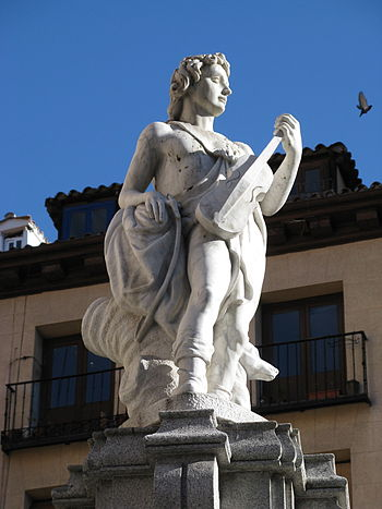 English: Fountain of Orpheus in Madrid.