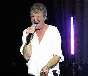 Rock singer Ian Gillan performing live with De...
