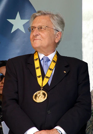 Jean-Claude Trichet at the Karlspreis award 2011
