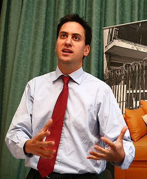Ed Milliband MP speaking at the Labour Party c...