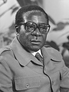 Mugabe on a visit to the Netherlands in 1979