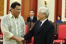 Nguyễn Phú Trọng meets Philippine President Rodrigo Duterte, 29 September 2016
