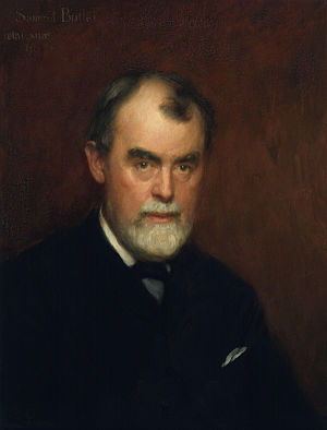 Samuel Butler, by Charles Gogin (died 1931), g...