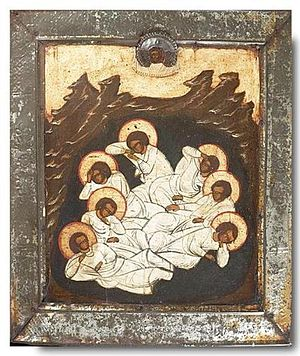 Seven sleepers. Russian icon