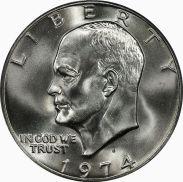 Eisenhower dollar, obverse