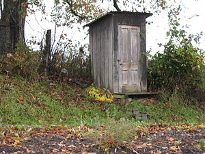 Outhouse near Miller's Bakery