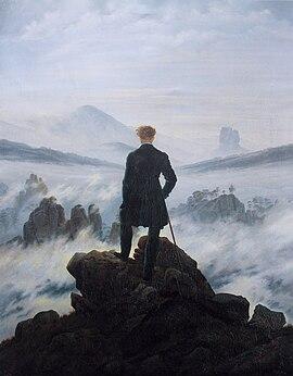 Image illustrative de l'article Le Voyageur contemplant une mer de nuages