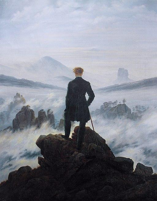 Wanderer above the sea of fog ad