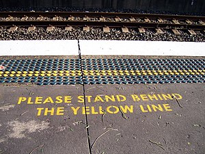 A typical message asking passengers to stand b...