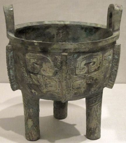 Ding (vessel), China, Shang dynasty, c. 1500-1050 BCE, HAA
