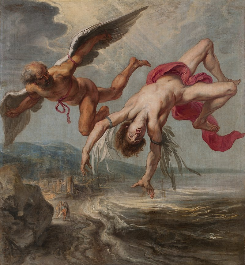 Icarus falling from the sky