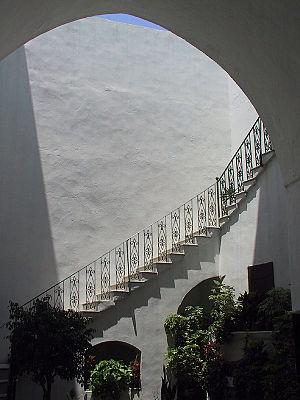 Deutsch: Der Innenhof des Hauses Abud in Akko,...