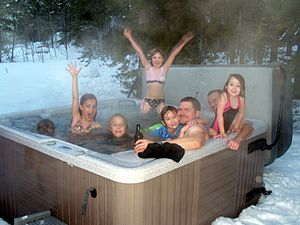 English: Hot tubbing in Keystone, Colorado.