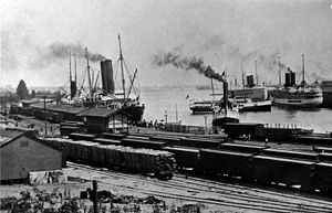 English: The Port of Los Angeles, 1913.
