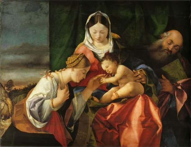 """The Mystical Marriage of Saint Catherine"" by Lorenzo Lotto"