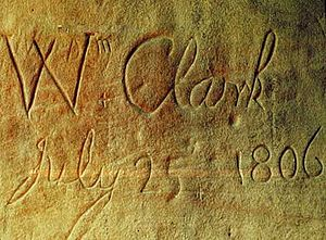 Signature of William Clark, on 1806-07-25 at t...